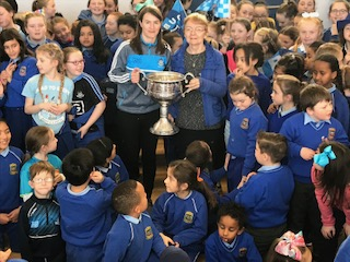 Sr. Ann with her niece, Sinead Ahern, Captain of the Dublin Ladies Team 2017